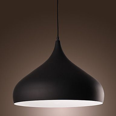 60W Modern Pendant Light with Spinning-top Aluminum Shade in Elegant Streamline Design - AUD $ 190.04