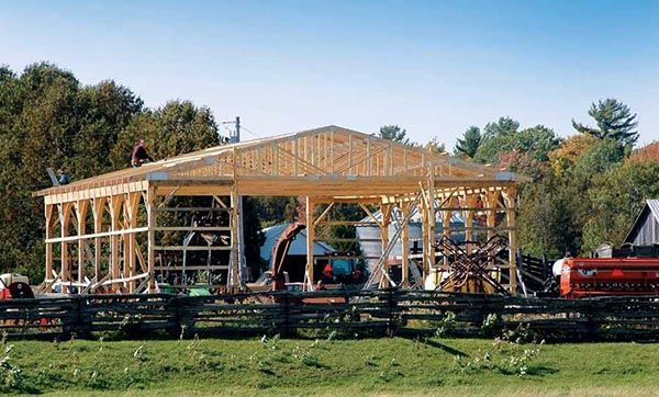 Do-It-Yourself Pole-Barn Building. Fast, solid, and cost-effective, a pole-barn building can serve as a workshop, storage space, or livestock shelter. From MOTHER EARTH NEWS magazine.