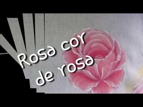 Pintura em tecido Eliane Nascimento: Rosas - YouTube