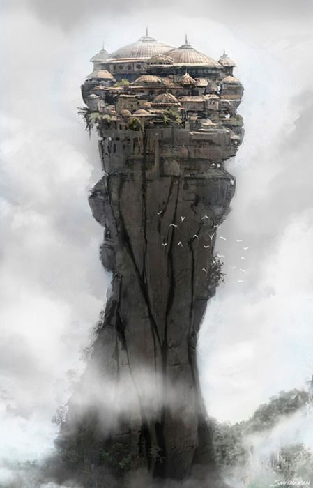 city in the clouds | #WotA : Oyain is a continent that floats naturally SW of Gaea. Can also be reference for the Heavens of the Alyres #Oyain #Alyres