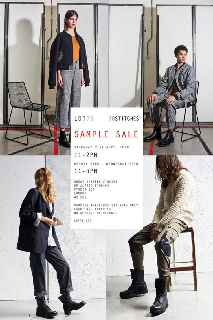 Lot78 and 78Stitches Sample Sale -- London -- 21/04-25/04