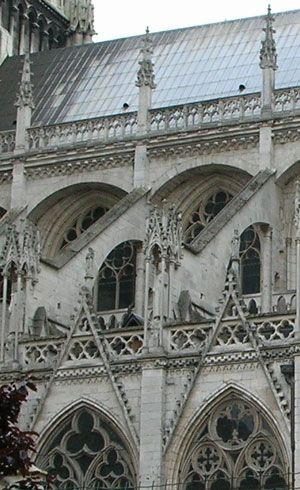 Flying buttress Rouen Cathedral