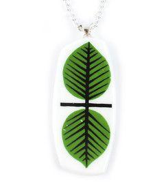 Necklace Berså - Necklace manufactured from recycled porcelain. #stiglindberg #gustavsberg #porslinssmycke