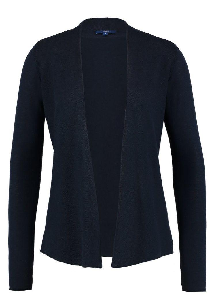 Köp  TOM TAILOR CARDIGAN SHAWL COLL - Kofta - real navy blue för 399,00 kr (2018-01-13) fraktfritt på Zalando.se
