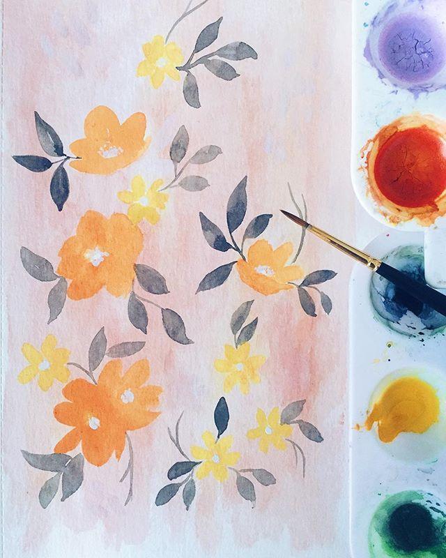 Watercolor floral paintings - Jessyland