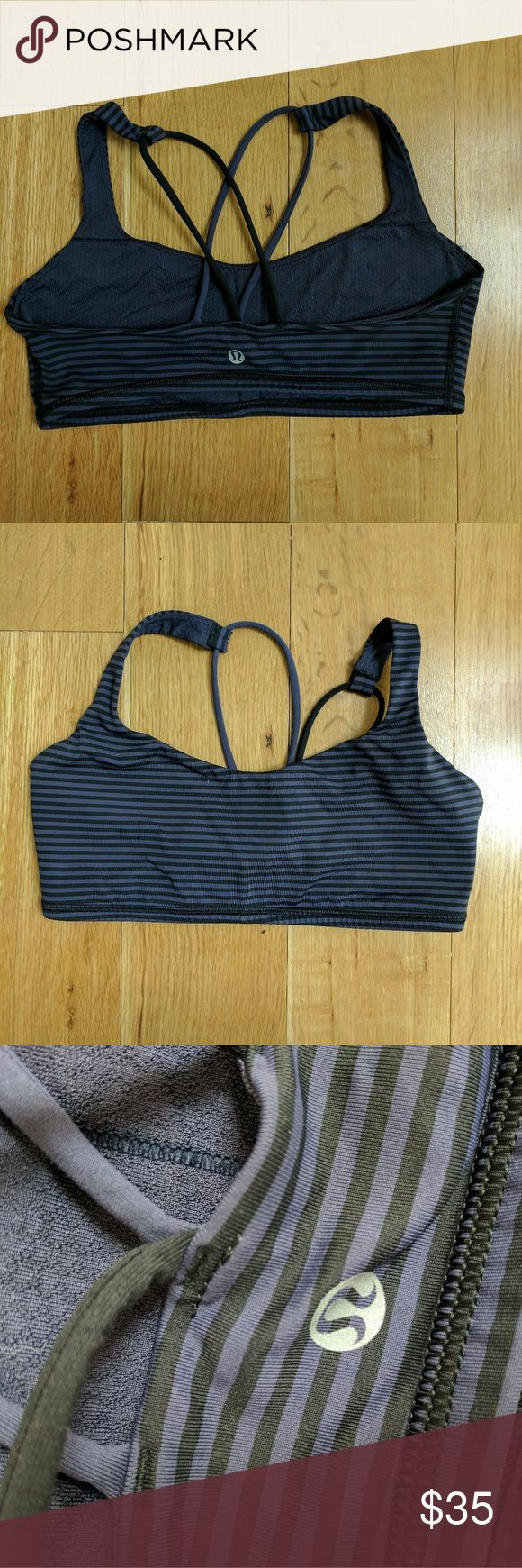 Lululemon free to be striped sports bra Excellent used condition! Lululemon size 8 though I usually find their sports bras to fit small to size so listing as a S lululemon athletica Intimates & Sleepwear Bras