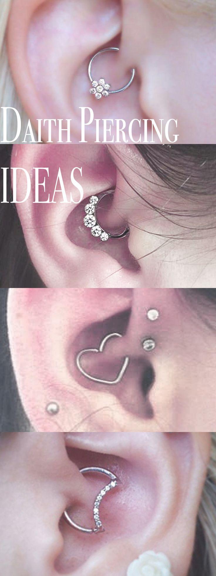 Daith Ear Piercing Ideas - MyBodiArt.com - Cute Earrings for Rook - Moon Heart Flower Star Silver 16G