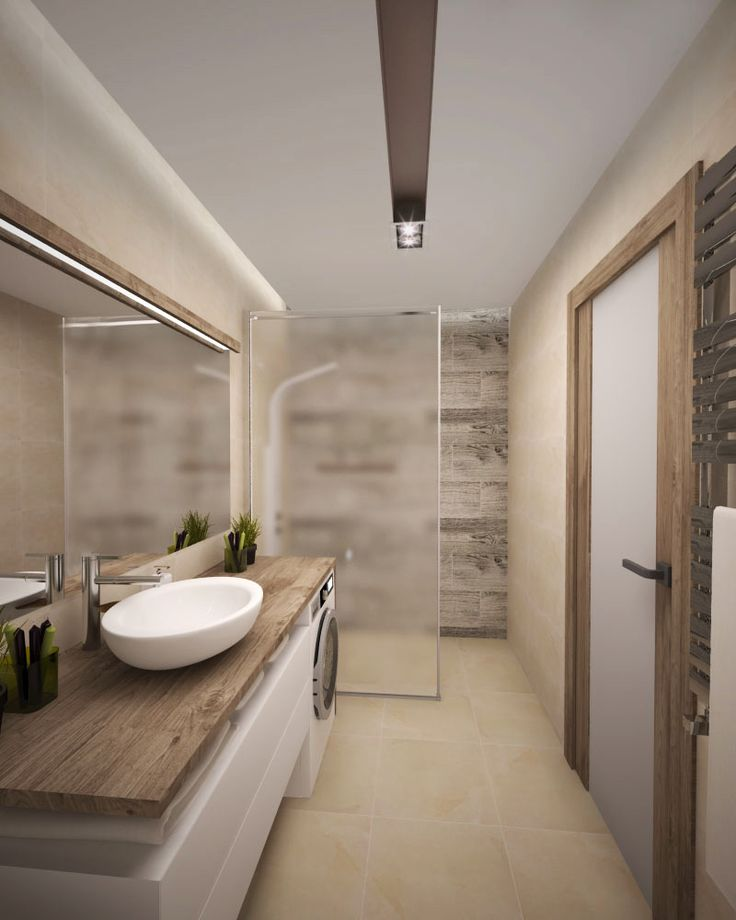 we love: the wide door with a lever handle, the level entry shower