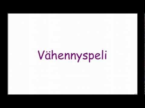 ▶ Vähennyspeli - YouTube 2. lk (aop) (ohjevideo 1:51), 0-100.