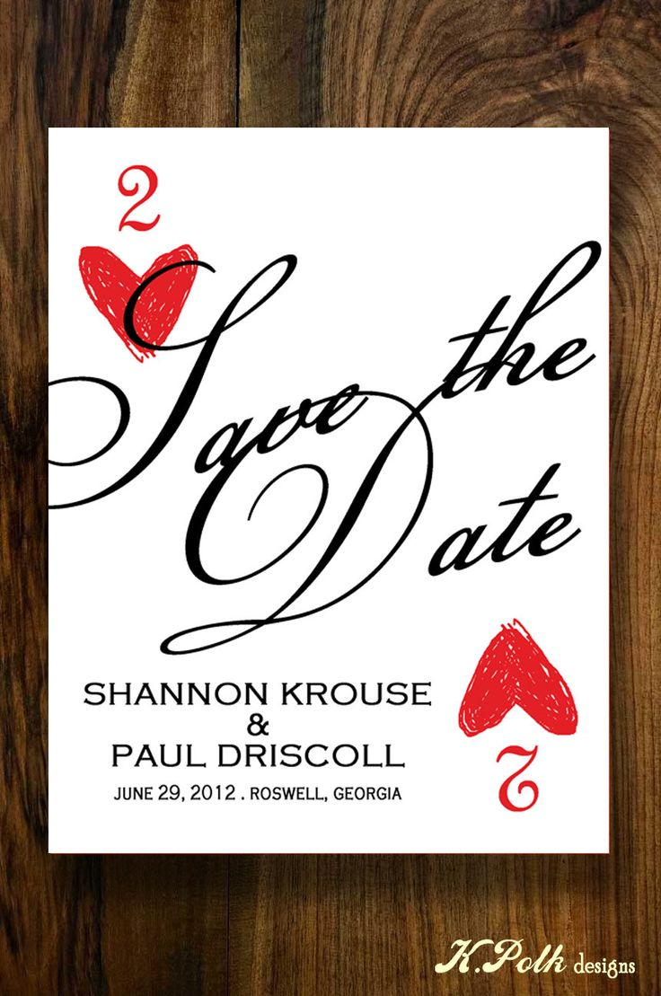 VIva Las Vegas - Save the Date Postcard. $0.90, via Etsy.