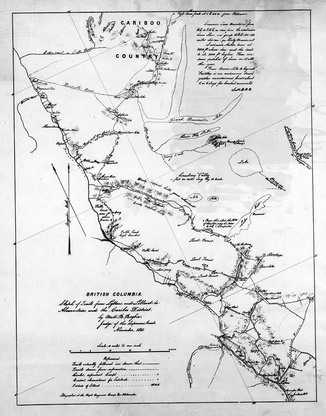 Map of Gold Rush area