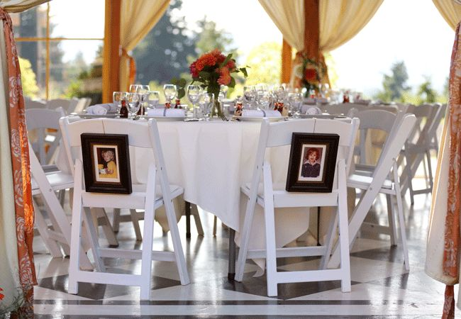 16 Creative Ways To Display Family Photos At Your Wedding | Photo by: Falcusan Photography | TheKnot.com