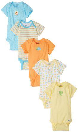 Amazon.com: Gerber Unisex-Baby Newborn Frogs And Ducks 5 Pack Variety Onesie: Clothing
