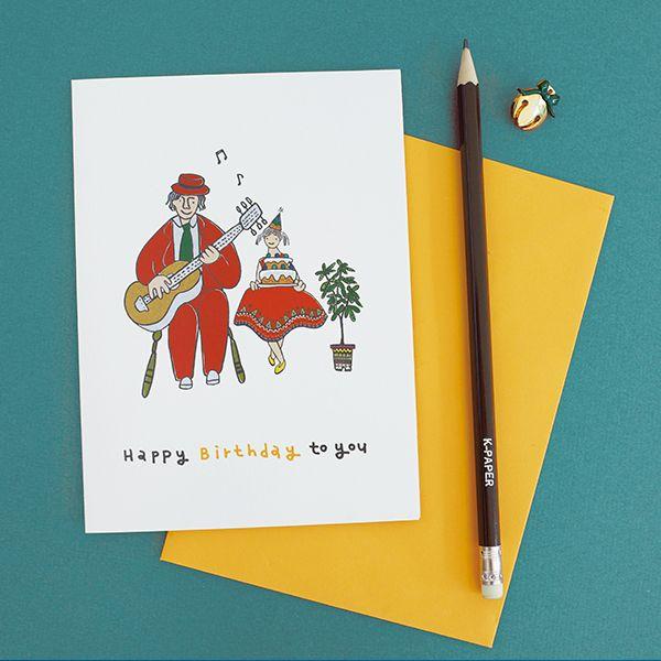 K-paper birthday card c15024lm