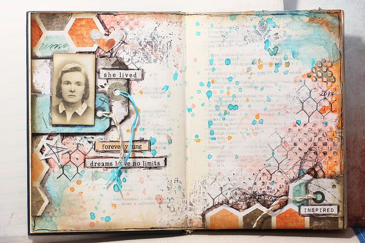 Új Art Journal album | Sugallatok #beedee #beedeescrap #tutorial #mixedmedia #artjournal #7dotsstudio #cottoncandydreams #cottoncandy
