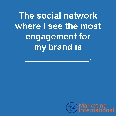 Where are you seeing #engagement on #socialmedia?