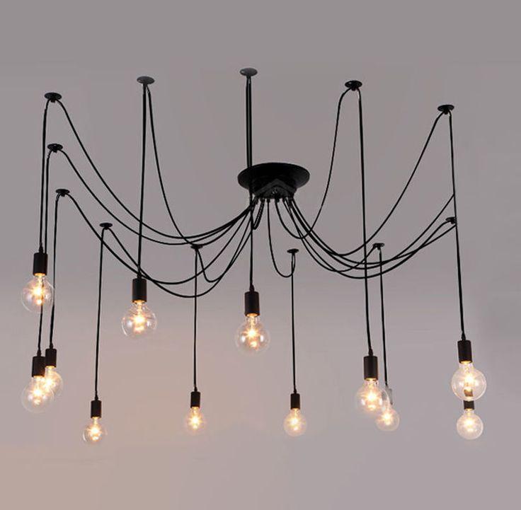 Vintage Edison Industrial Steampunk Loft Chandelier Ceiling Pendant Light Lamp | eBay