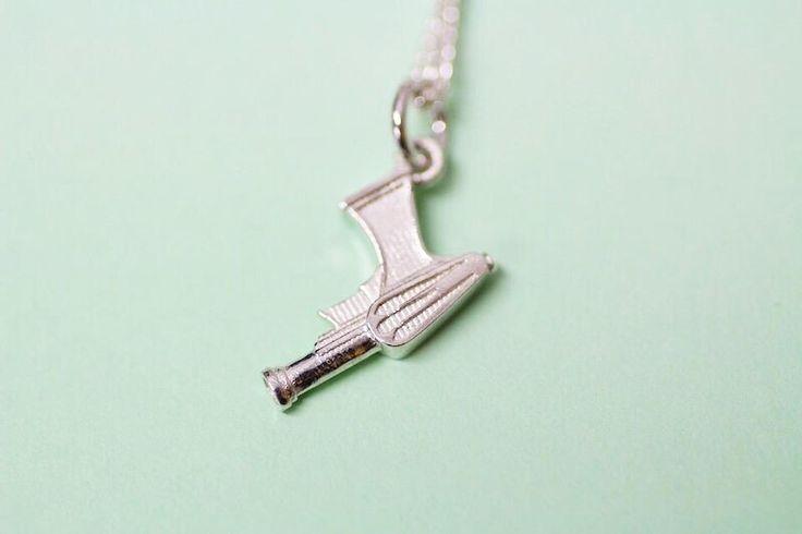 Gun sterling silver pendant by FrankieAndCoNZ on Etsy