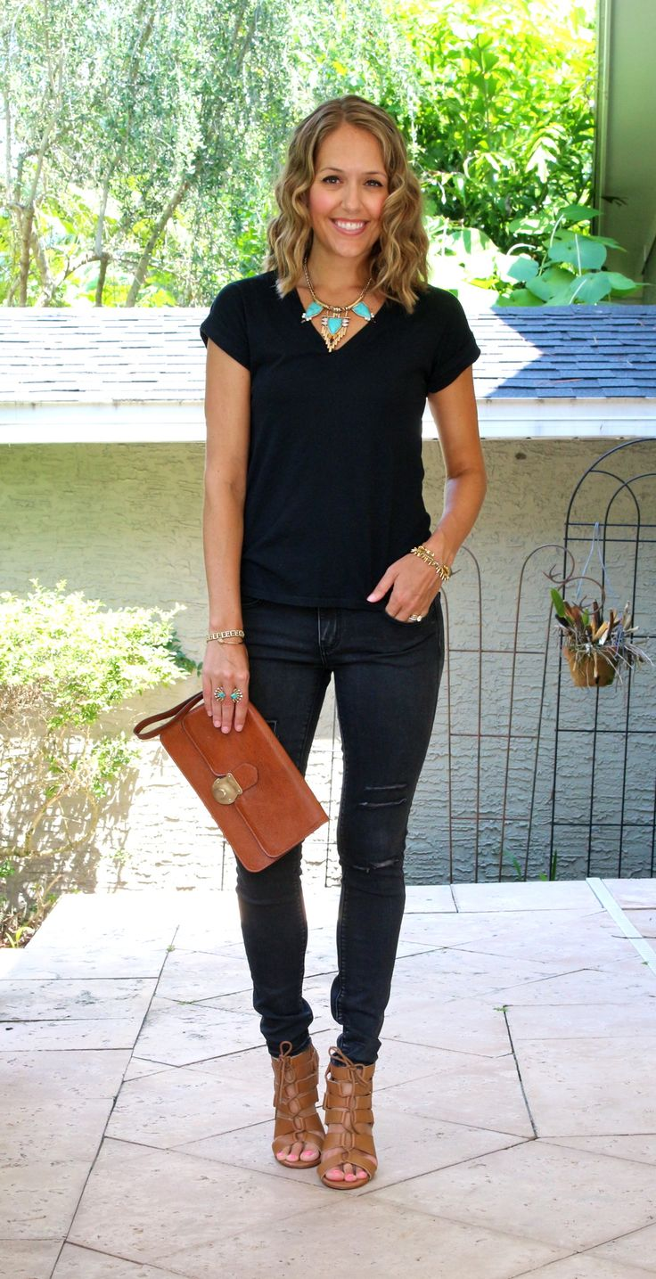 Black t shirt outfit - Today S Everyday Fashion Black Jeans J S Everyday Fashion
