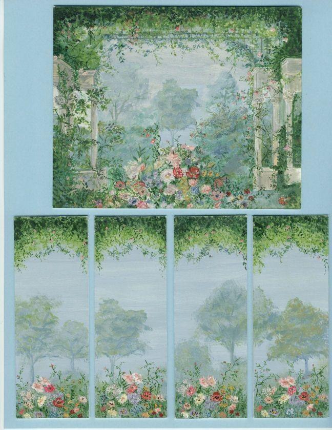 Wall mural secret garden for dollhouse walls free for Dollhouse mural