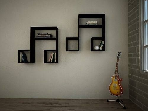 music  notes wall shelves. Creative