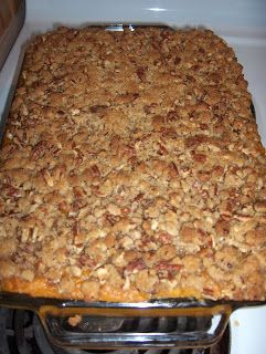 This stuff is a must have at every Thanksgiving from now until the end of time as we know it!!   The Menu: Mashed Sweet Potato Crunch   The ...
