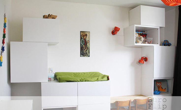 buroflip | Kinderkamer Hugo | kamer met een retro knipoog. Basismeubels van Ikea en Stokke.