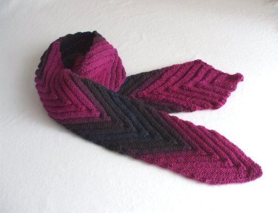 Sjaal wollen sjaal sieraden sjaal gebreid wol door AngisWollBobbl