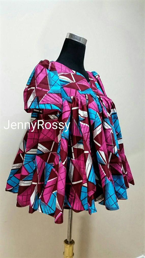 ON SALES Jennyrossy African print circle flare Top by JENNYROSSY