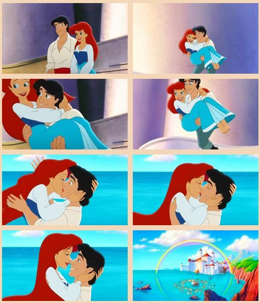 I LOVE how in The LM2 Eric spontaneously picks Ariel and and carries her into the water and in a heartbeat she surprises him with a kiss. LOVE LOVE LOVE