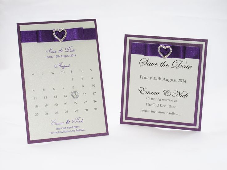 Cadbury Purple Wedding Invitations