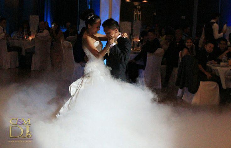 First dance with low fog at The Greek Club | G&M DJs | Magnifique Weddings #gmdjs #magnifiqueweddings #weddinglighting #weddingdjbrisbane @gmdjs