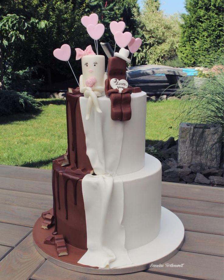 Milky und Schoki Hochzeitstorte, Zuckerfiguren essbar, Sanelas Tortenwelt, Weddi…