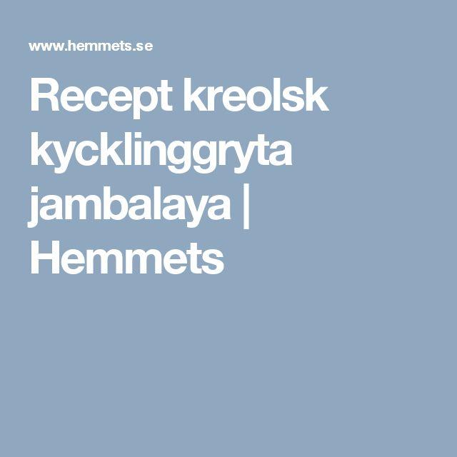 Recept kreolsk kycklinggryta jambalaya | Hemmets