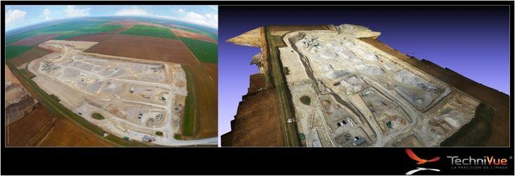 Modélisation 3D drone Carrière - TechniVue
