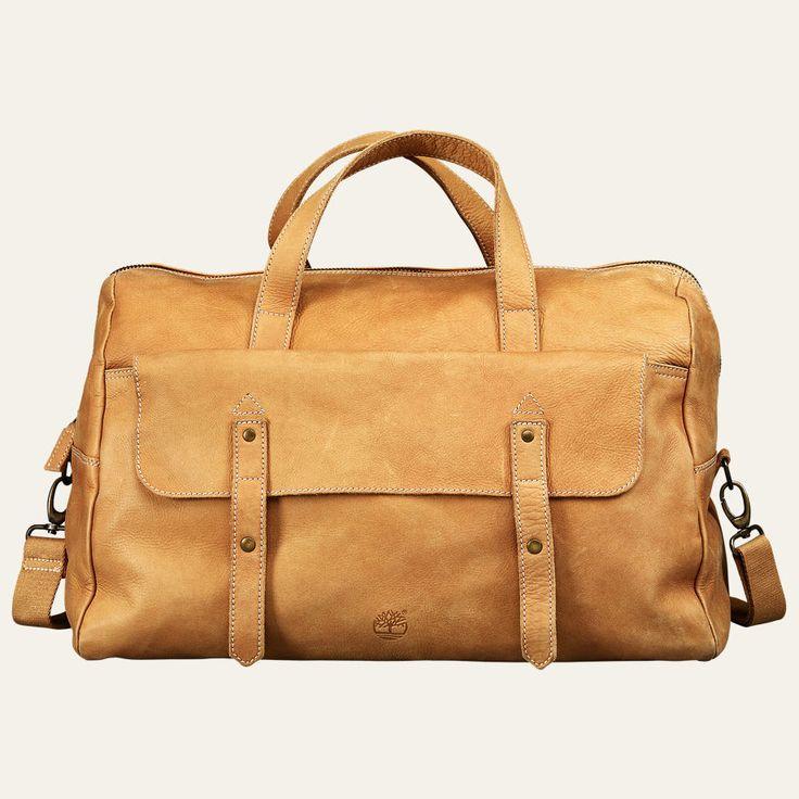 Adkins leather duffle bag med billeder