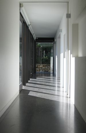 Polished concrete floors throughout the house! No tiling and no grout! No hardwood to nail or to get food, dust, etc. in the cracks!