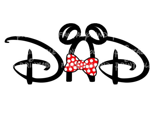 Dad Mickey Mouse or Mom Minnie Mouse DIY Printable Iron Transfer Disney. $ 4