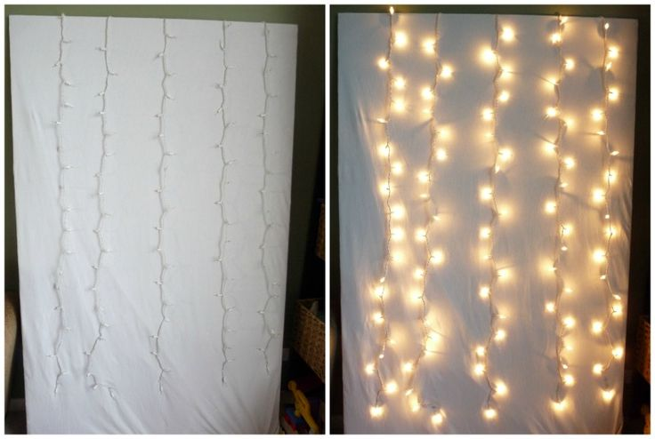 How To Make Photo Booth With Christmas Lights #diy