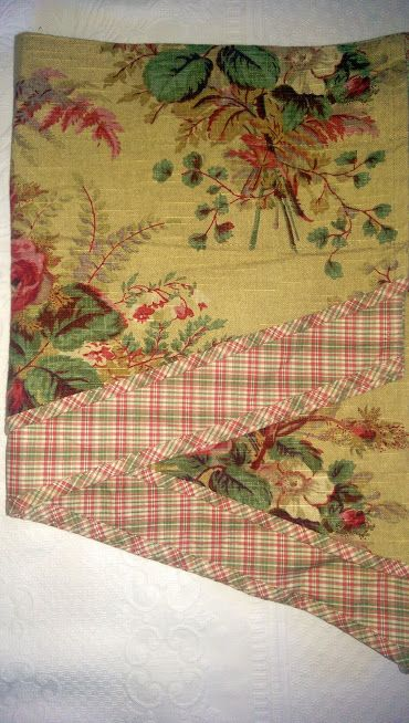 Waverly Valance~Floral and Plaid~Beautiful!