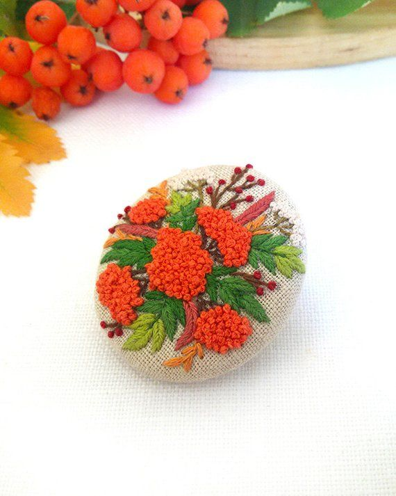 Felted flower brooch Christmas gift for Woman gift Xmas gift for Her