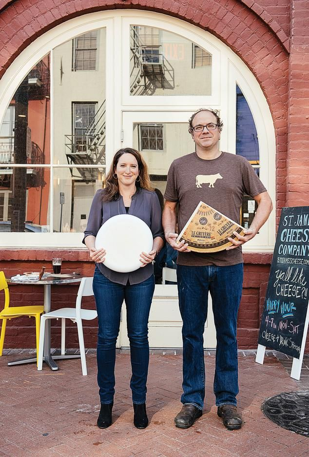 New eateries in New Orleans, WSJ - Danielle and Richard Sutton, outside of St. James Cheese Company in New Orleans's Warehouse District