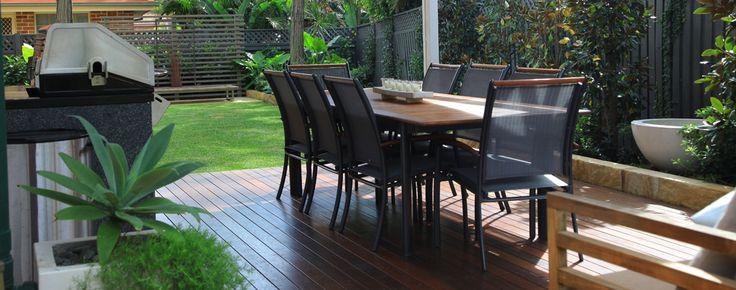 Family friendly garden design in Sydney, deck entertaining area
