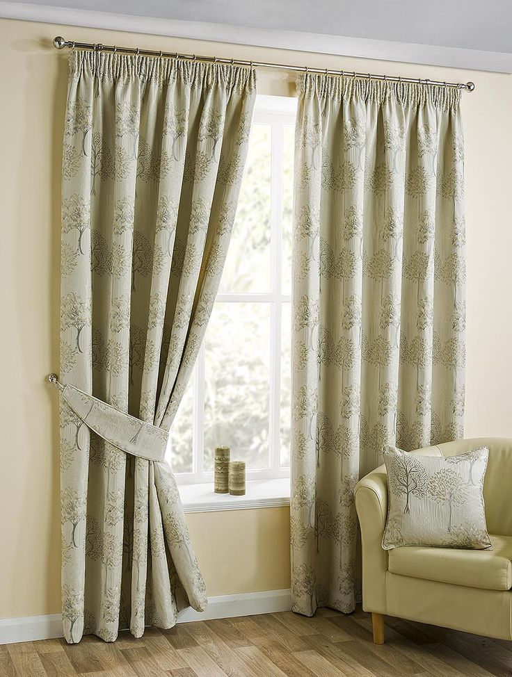 "Ava Linen 3"" Pencil Pleat Curtains"