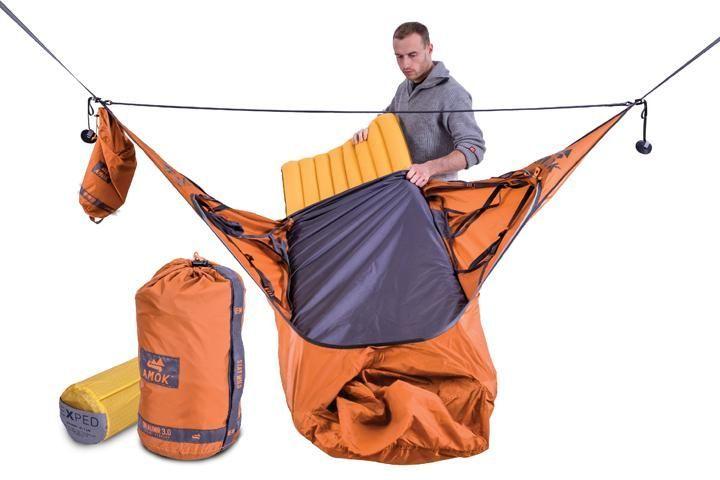 BASIC KIT: Amok Draumr 3.0 camping hammock with bug net and suspension system + sleeping pad - Amok Equipment US Inc #CampingHammock