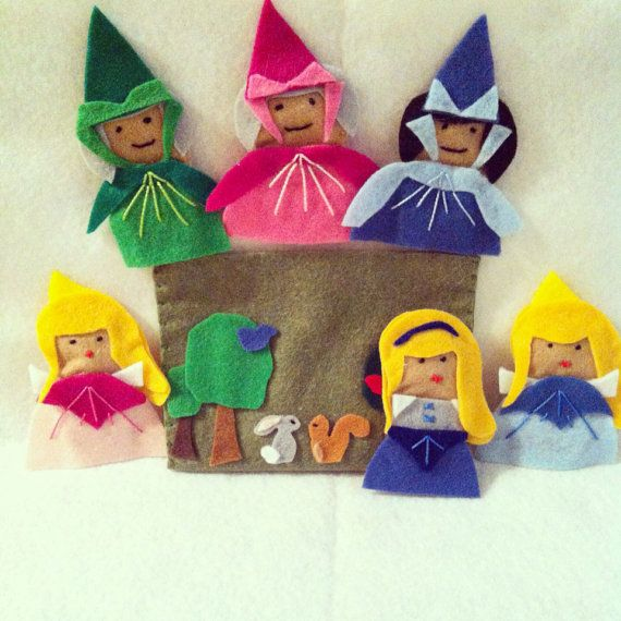 Sleeping Beauty by CourtneyFeltCreation on Etsy, $35.00. Love this! May have to make one for my Ladybug!