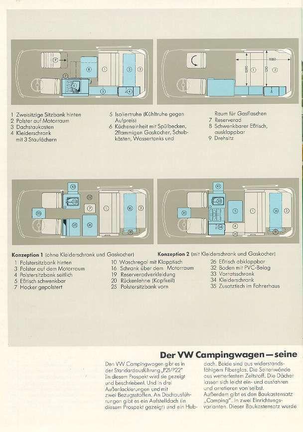 Vw Camper Fr Afficher Le Sujet Dimensions Split Et Bay Camper Combi T3 Dimensions
