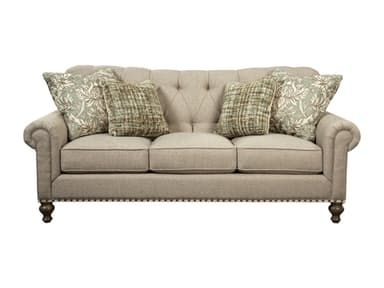 This tufted sofa has true Savannah style, just like Paula herself!   Classic elements like the traditional turned legs, three seat cushions,  and rolled arms make this an easy style to love.