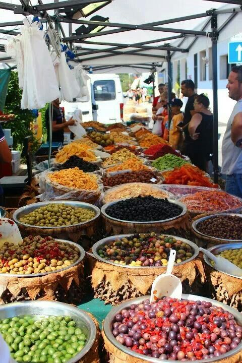 Otranto, Puglia,  Italy Is there anything better than getting fresh food from a local market?
