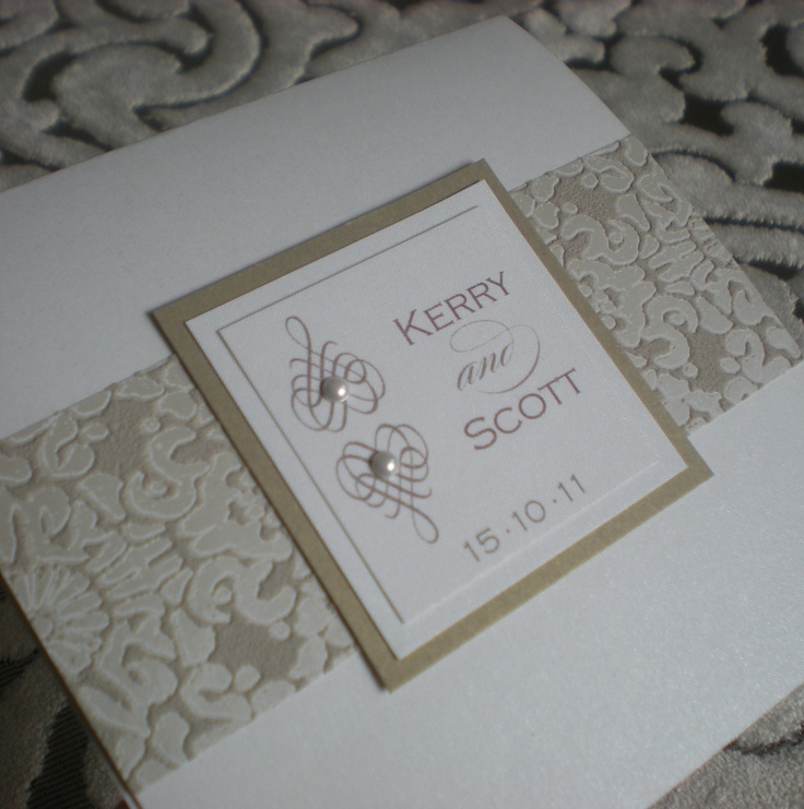 Beaufort Ivory Gold Wedding Invitation Swarovski Pearls Www Vivipaperie Co